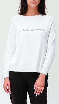 Белый джемпер Ermanno Ermanno Scervino с пуговицами на спине, фото