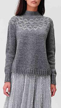 Серый свитер Ermanno Ermanno Scervino с орнаментом, фото