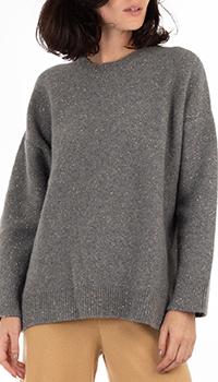 Серый свитер GD Cashmere с люрексовой нитью, фото
