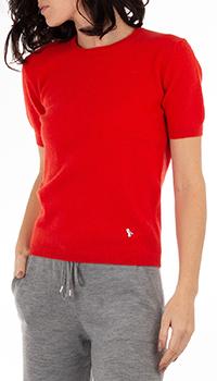 Красный кашемировый джемпер GD Cashmere с коротким рукавом, фото