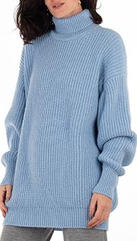 Голубой свитер GD Cashmere крупной вязки, фото