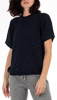 Темно-синий джемпер GD Cashmere с пайетками, фото