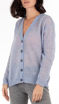 Мохеровый кардиган GD Cashmere лавандового цвета, фото