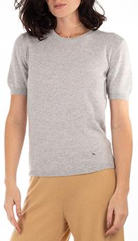 Кашемировый топ GD Cashmere серого цвета, фото