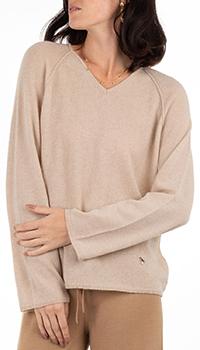 Кашемировый пуловер GD Cashmere в бежевом цвете, фото