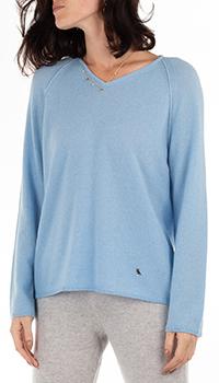Кашемировый пуловер GD Cashmere голубого цвета, фото