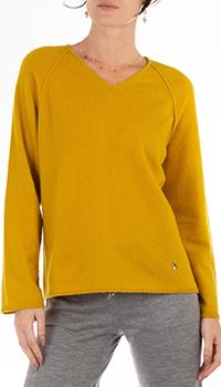 Кашемировый пуловер GD Cashmere желтого цвета, фото