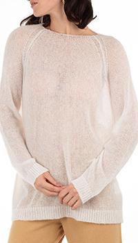 Полупрозрачный джемпер GD Cashmere белого цвета, фото