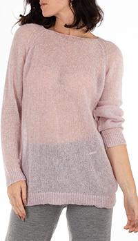 Светло-розовый джемпер GD Cashmere прямого кроя, фото