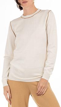 Шерстяной джемпер GD Cashmere в белом цвете, фото