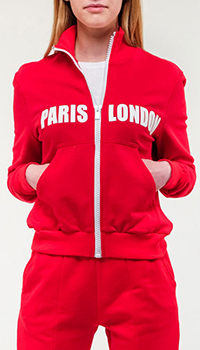 Красная кофта Frankie Morello с принтом на спине, фото
