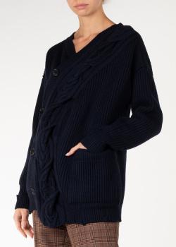 Синий кардиган Nina Ricci с карманами, фото