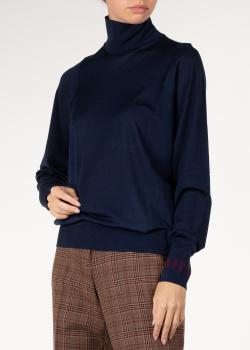 Шерстяной гольф Nina Ricci с контрастным логотипом, фото
