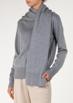 Шерстяной свитер Nina Ricci с воротником-шарфом, фото