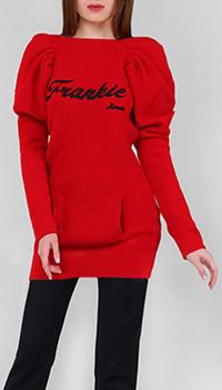 Удлиненный свитер Frankie Morello с логотипом, фото