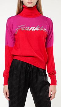 Шерстяной свитер Frankie Morello с логотипом из страз, фото