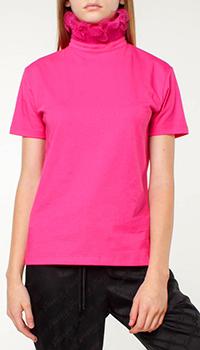 Розовый топ Frankie Morello с воротником-стойкой, фото