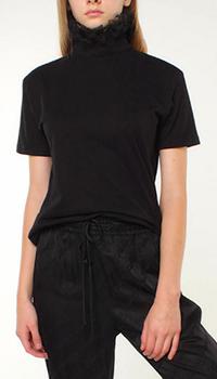 Черный топ Frankie Morello с принтом на спине, фото
