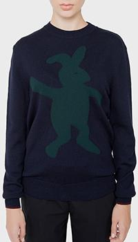 Черный джемпер Marni с принтом-кроликом, фото