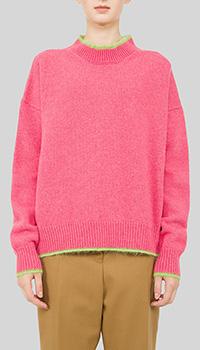 Свитер Marni розовый с двойным воротником, фото