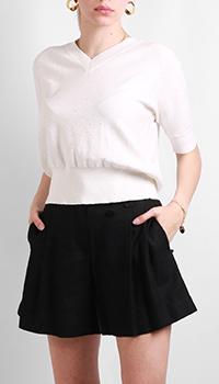 Белый пуловер Max&Moi с коротким рукавом, фото
