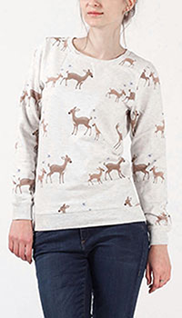 Бежевый джемпер Sugarhill Bertie с оленями, фото