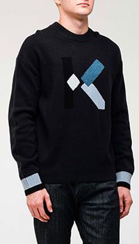 Свитер Kenzo темно-синего цвета, фото