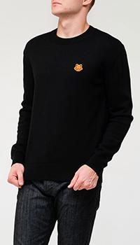 Мужской шерстяной свитер Kenzo с нашивкой бренда, фото