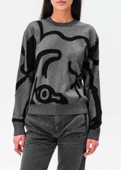 Трикотажный джемпер Kenzo с абстрактным узором, фото