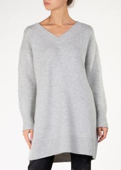 Кашемировый пуловер Arch4 в сером цвете, фото