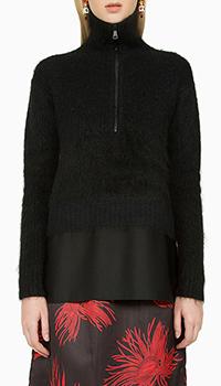 Женский шерстяной свитер N21 черного цвета, фото