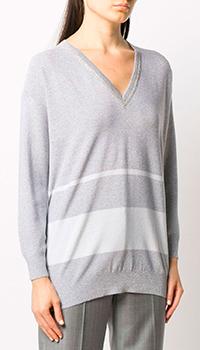 Пуловер Fabiana Filippi с белыми горизонтальными полосами, фото