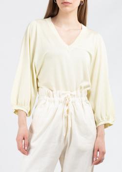 Трикотажный пуловер Fabiana Filippi желтого цвета, фото
