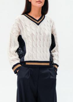 Вязаный пуловер Max Mara Weekend Dalida с узором-косами, фото