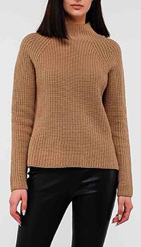 Коричневый свитер Max Mara Weekend с боковыми разрезами, фото