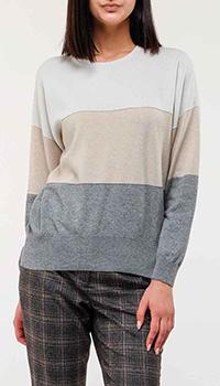Трехцветный тонкий свитер Peserico, фото