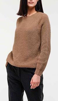 Коричневый свитер Peserico из шерсти альпаки, фото