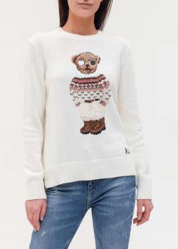 Трикотажный джемпер Polo Ralph Lauren с изображением медведя, фото