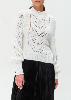 Белый свитер Red Valentino с перфорацией, фото