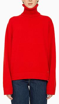 Шерстяной свитер Dsquared2 красного цвета, фото