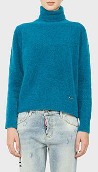 Женский свитер Dsquared2 бирюзового цвета, фото