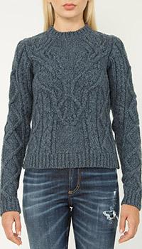 Вязаный свитер Dsquared2 синего цвета, фото