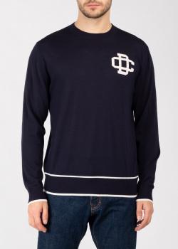 Темно-синий свитер Dsquared2 из шерсти, фото