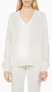 Кашемировый свитер N21 с вырезом белого цвета, фото