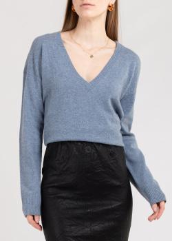 Кашемировый пуловер Zadig & Voltaire с нашивками в виде звезд, фото