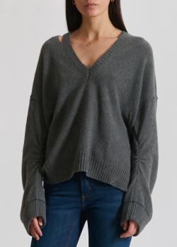 Серый пуловер Zadig & Voltaire из шерсти и кашемира, фото