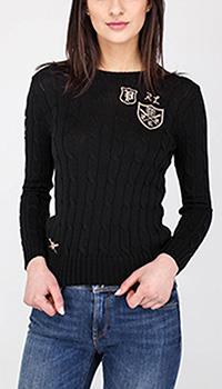 Вязаный джемпер Polo Ralph Lauren с брендовой вышивкой, фото