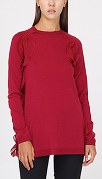 Шерстяной джемпер Red Valentino с воланами, фото