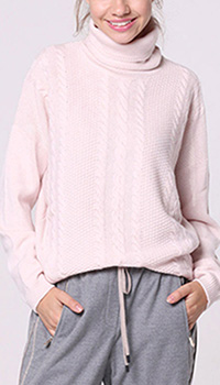 Розовый гольф Peserico с вязкой-косичкой, фото