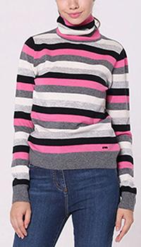 Гольф Emporio Armani в серо-розовую полоску, фото